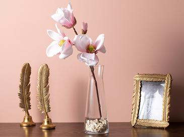 Aquarel Magnolia Plastik Tek Dal Yapay Çiçek 20x27x60 Cm Pembe