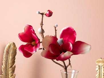 Magnolia Bundle Plastik Tek Dal Yapay Çiçek 18x27x52 Cm Koyu Pembe