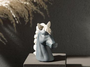 Carousel Horse Stoneware Biblo 14x6x14 Cm Antrasit