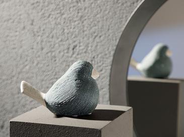 Ratite Bird Stoneware Biblo 12,5x7x9 Cm Gri