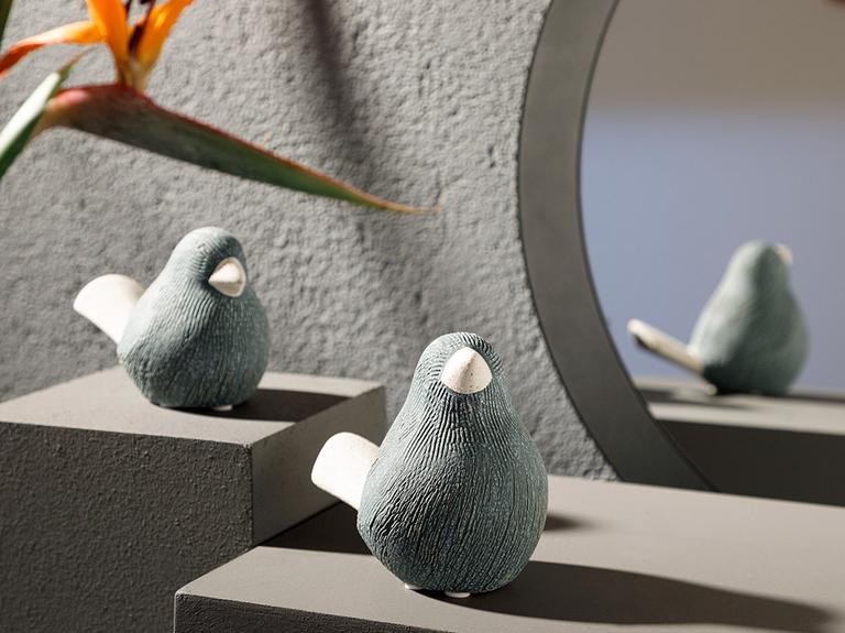 Queer Bird Stoneware Biblo 12,5x8x10,5 Cm Gri