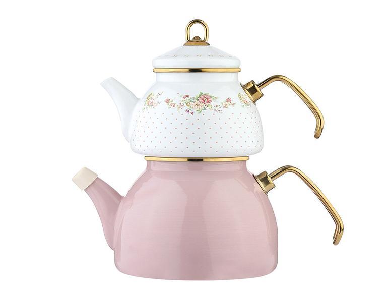 Rosalinda Emaye Çaydanlık 2,5 L Beyaz