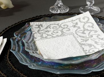 Madeline Kağıt 20 Adet Kağıt Peçete 33x33 Cm Silver