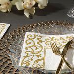 Madeline Kağıt 20 Adet Kağıt Peçete 33x33 Cm Gold