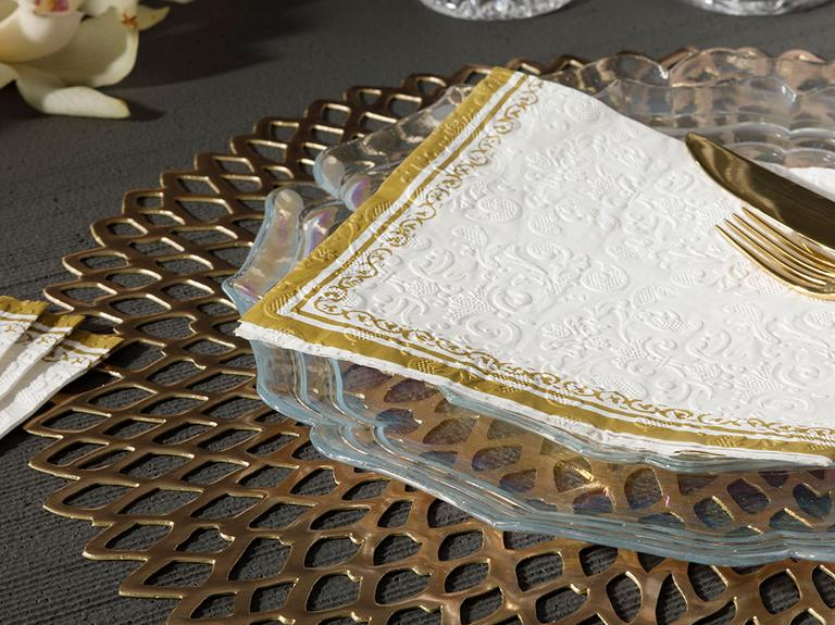 Marlyn Kağıt 20 Adet Kağıt Peçete 33x33 Cm Gold