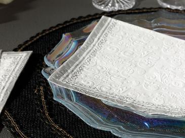 Marlyn Kağıt 20 Adet Kağıt Peçete 33x33 Cm Silver