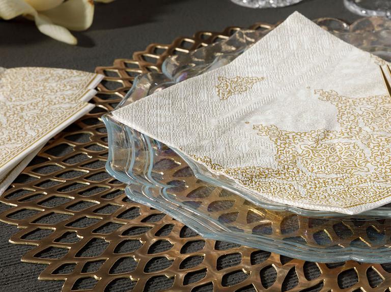 Malinda Kağıt 20 Adet Kağıt Peçete 33x33 Cm Gold