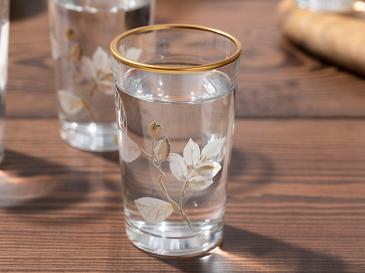 Bahar Dalı Cam 6'lı Kahve Yanı Su Bardağı 100 Ml Şeffaf