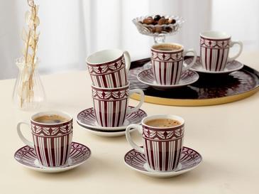 Galio Porselen 12 Parça Kahve Fincan Takımı 100 Ml Mor