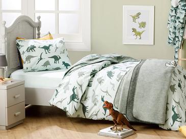 Dinosaurs Pamuklu Çocuk Nevresim Takımı 160x220 Cm Yeşil
