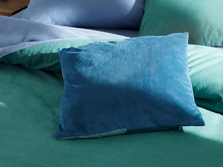 Patchwork Kadife Dolgulu Kırlent 45x45 Cm Mavi - Yeşil