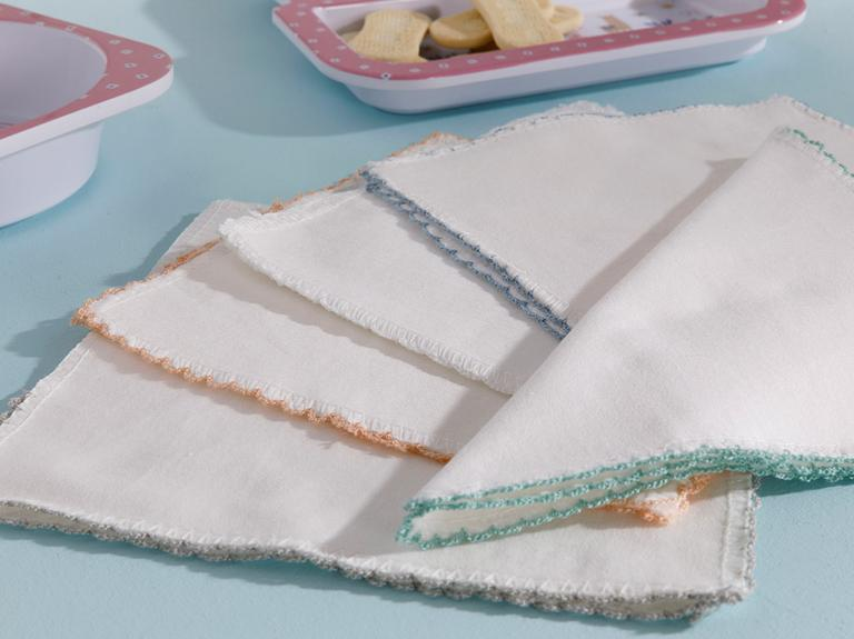Cotton Pamuk 10'lu Bebek Ağız Silme Bezi 20X20 Cm Krem