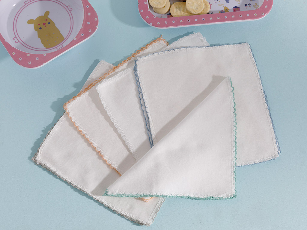 Cotton Set Prosop din Bumbac Pentru Bebe 10 Piese 20x20 Cm Crem 10027852001