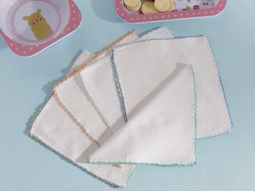 Cotton Pamuk 10'lu Bebe Ağız Silme Bezi 20X20 Cm Krem