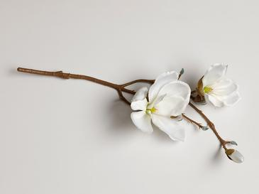 Magnolia Bundle Tek Dal Yapay Çiçek 18x27x52 Cm Krem