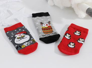 Penguins Bebe Çorap 6-12 Ay Gri