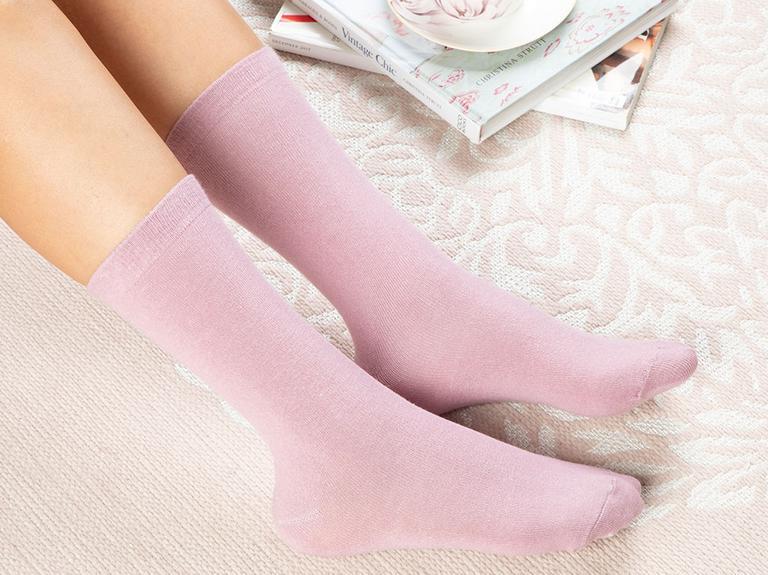 Lucky Pamuk Kadın Çorap Standart Pembe