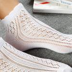 Fishnet Pamuk Kadın Çorap Beyaz