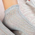 Fishnet Pamuk Kadın Çorap Gri
