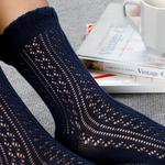 Fishnet Long Pamuk Kadın Çorap Lacivert