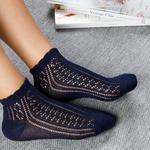 Fishnet Pamuk Kadın Çorap Lacivert