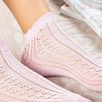 Fishnet Pamuk Kadın Çorap Pudra Pembe