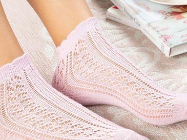 Fishnet Pamuk Kadın Çorap Standart Pudra Pembe