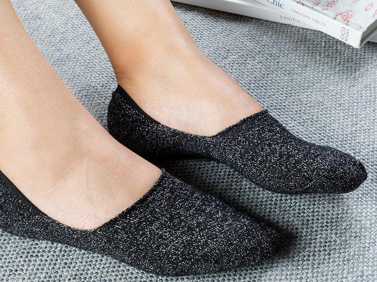 Purl Pamuk Kadın Çorap Standart Siyah