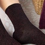 Purler Pamuk Kadın Çorap Siyah