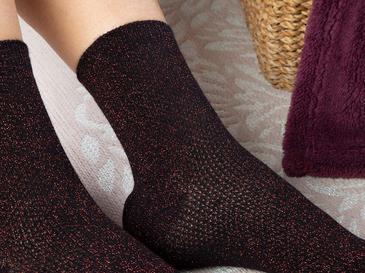 Purler Pamuk Kadın Çorap Standart Siyah