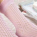 Fishnet Long Pamuk Kadın Çorap Pudra Pembe