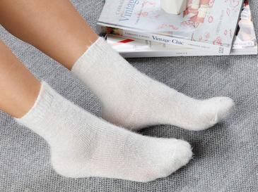 Elegance Polyamid Çorap Standart Açık Krem