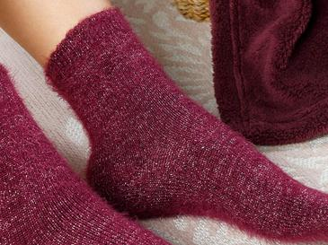 Elegance Polyamid Çorap Standart Bordo