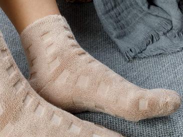 Towel Pamuk Polyester Çorap Standart Koyu Bej