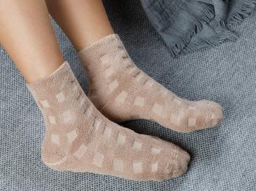 Towel  Modal Çorap Koyu Bej