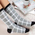 Stitch Pamuk Kadın Çorap Standart Gri