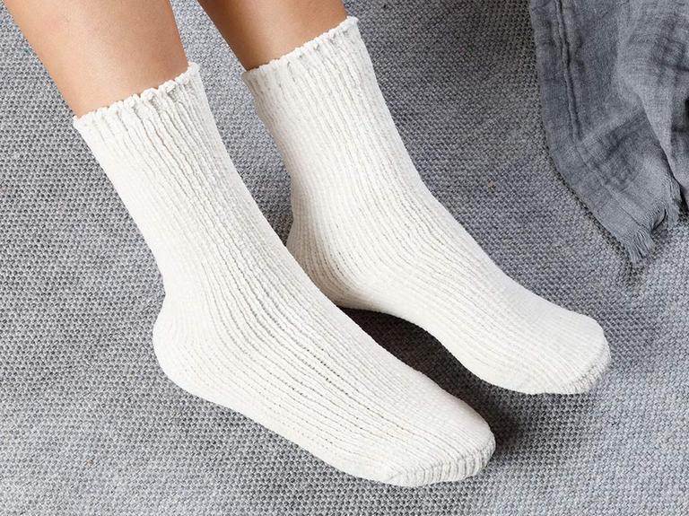 Velvet Kadife Kadın Çorap 36-38 Ekru
