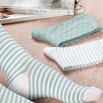 Colourful Pamuk Kadın Çorap Beyaz - Yeşil