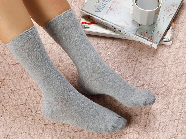 Lucky Pamuk Kadın Çorap Gri