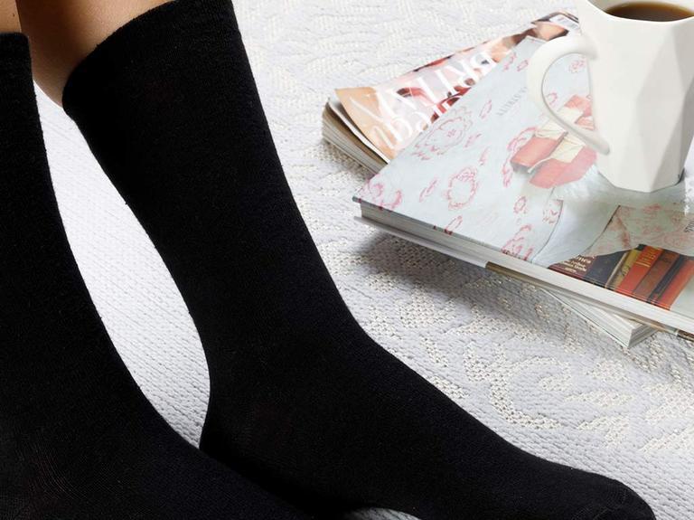 Lucky Pamuk Kadın Çorap Siyah