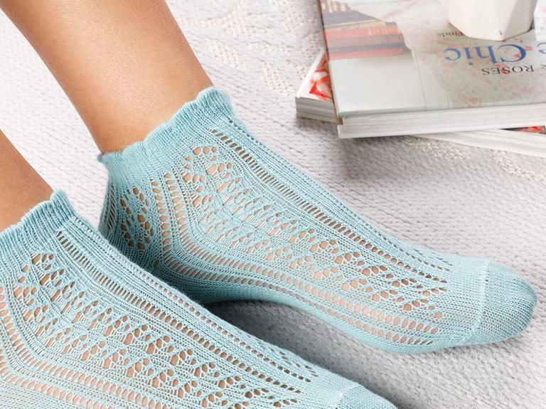 Fishnet Pamuk Kadın Çorap Yeşil