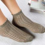 Fishnet Pamuk Kadın Çorap Haki