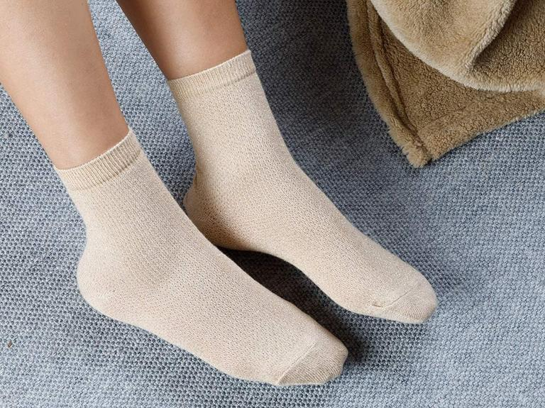 Purler Pamuk Çorap Kadın Gold