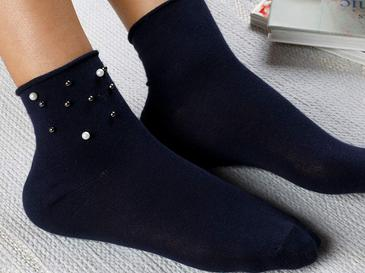 Pearl Pamuk Kadın Çorap Standart Lacivert