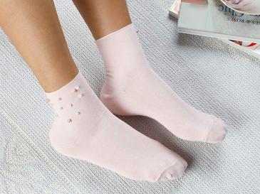 Pearl Pamuk Çorap Pembe