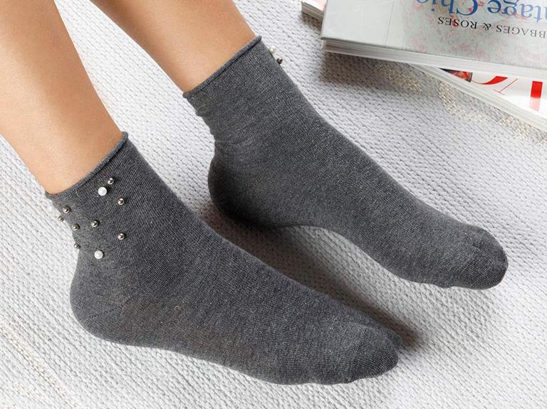 Pearl Pamuk Çorap Gri