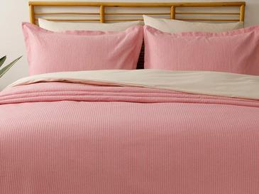 Jayce Pamuklu Çift Kişilik Yatak Örtüsü Takımı 230x240 Cm Pembe