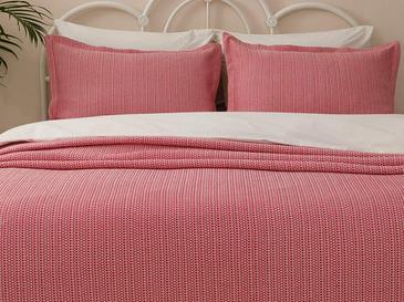 Lucy Pamuklu Çift Kişilik Yatak Örtüsü Takımı 230x240 Cm Fuşya