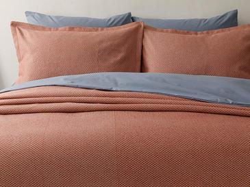 Blake Pamuklu Çift Kişilik Yatak Örtüsü Takımı 230x240 Cm Kiremit