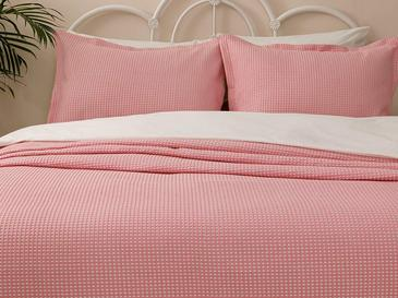 Dante Pamuklu Çift Kişilik Yatak Örtüsü Takımı 230x240 Cm Pembe